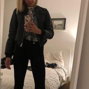 Zara vegan leather bomber jacket - NWOT